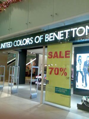 Benatton Sale