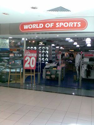 world of sports sale